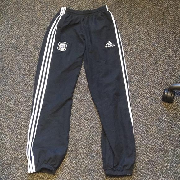 c93ba8a8608 adidas Pants - Adidas athletic sweatpants w/ Argentina team patch