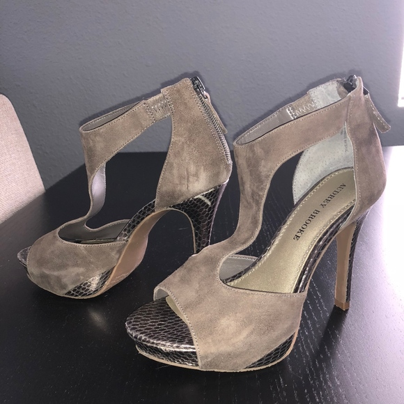 fb9b2bf365 Audrey Brooke Shoes | Dixie Women Opentoe Suede Heels | Poshmark