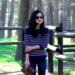 • milly • sailor stitch navy blue sweater