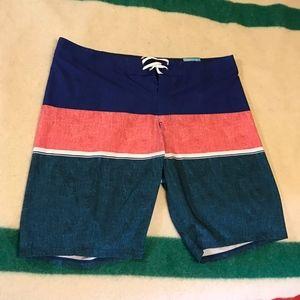 OLD NAVY CALIFORNIA Board Short Swim Trunk Stripes