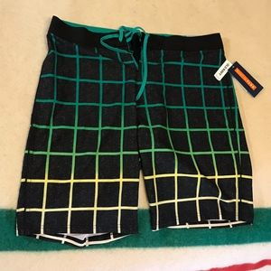OLD NAVY CALIFORNIA Board Shorts Swim Trunks Neon