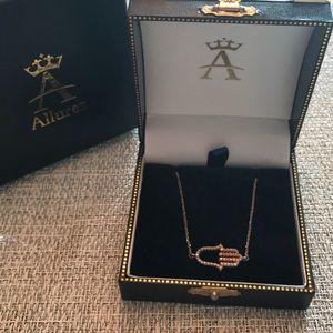 Allurez Diamond and 14K Rose Gold Hamsa Pendant