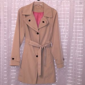 Hooded Calvin Klein Single-Breasted Trench Coat