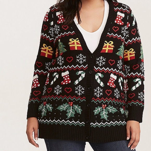 torrid - torrid grandpa holiday cardigan size 2 from Jess's closet ...