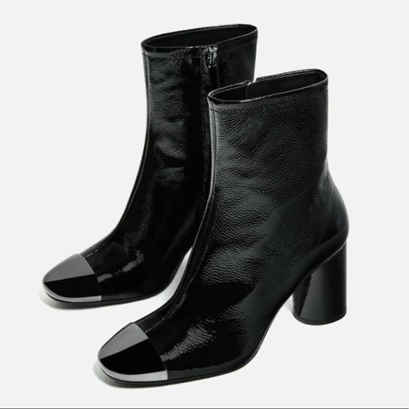 25bda20ebc1 Zara metal cap toe boots