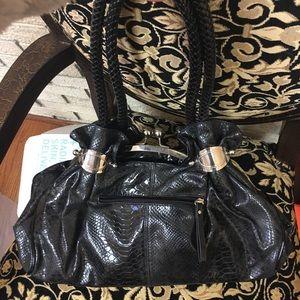 Handbags - 👜 Black Crocodile Print Purse