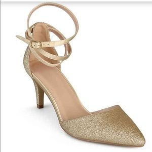 Gold ankle wrap Heel size 8