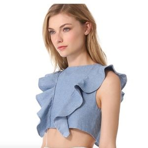 ONE by Viva Aviva 'Magnolia' chambray crop top