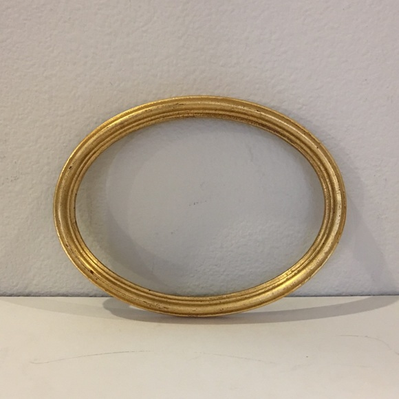 Other - Solid wood oval frame, made in Italy