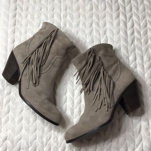 Sam Edelman Louie Fringe Ankle Boots