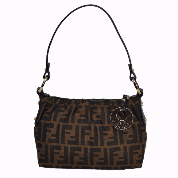 FENDI Handbags - NEW Fendi Small Chef Handbag Brown   Tan Zucca 7843cf5cf3