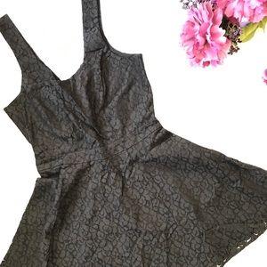 NWT Aeropostale floral black dress w/back tie Sz M