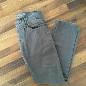 Mossimo men's grey/brown jeans