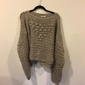 Mes Demoiselles Paris brown knit sweater