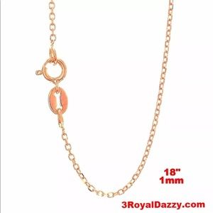 Jewelry - Italian 14k Rose Gold over 925 Chain 18""