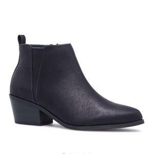 Basic black booties