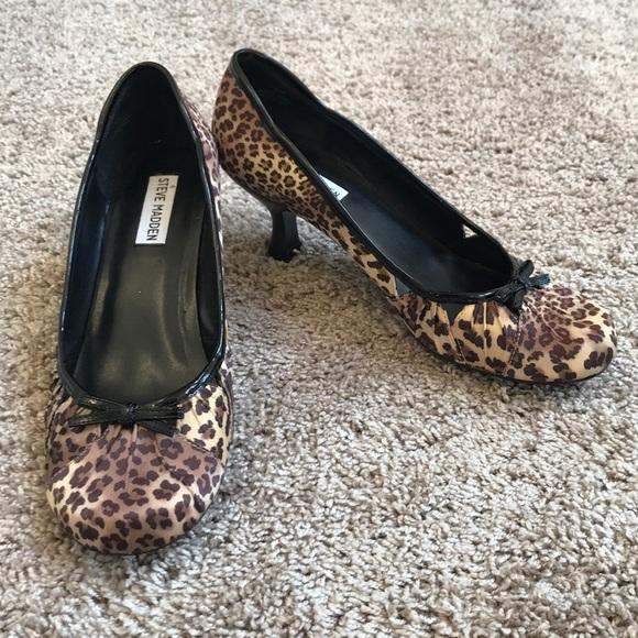 baadba61a29 Steve Madden Animal Print Heels