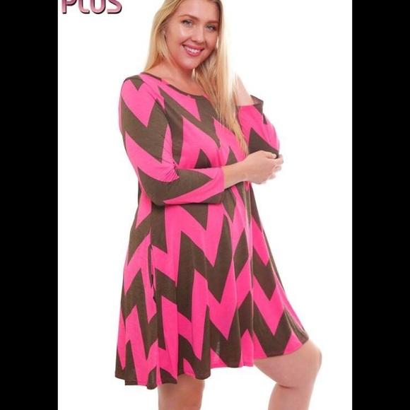 Ecb Dresses Chevron Plus Size Dress Poshmark
