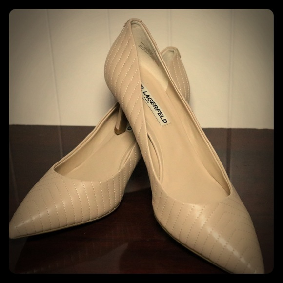 0e857a5eb20 Karl Lagerfeld Shoes - Karl Lagerfeld Rosette Leather Point Toe Pumps