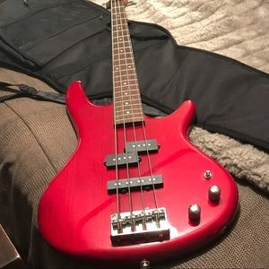Used, Ibanez 4 string bass guitar for sale