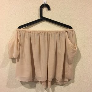 Off the shoulder nude top