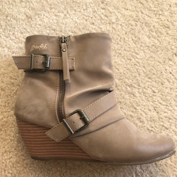 a52cdfd896d3 Blowfish Shoes - Brown suede wedge ankle boots