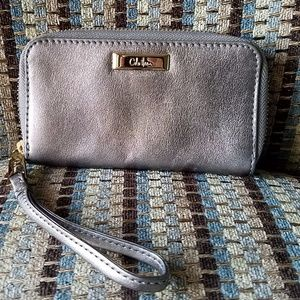 Cole Haan small silver wallet/coin purse