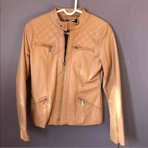 NWOT kardashian kollection faux leather jacket- XS