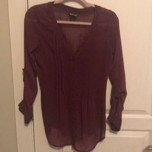 Wet seal dark purple top size small