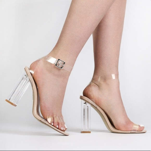 04615862c57 Clear Heel Clear Ankle Strap Heel. M 5a21cc0ec6c79534f5000a92