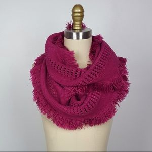 Accessories - Pink Fringe Scarf
