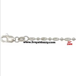 """Jewelry - Italy 18k white gold layered over .925 chain-24"""""""