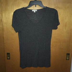 Dark Gray V-Neck T-Shirt