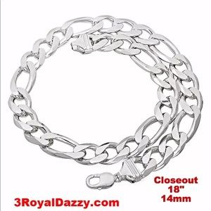 Jewelry - Closeout Italy Solid Thick Choker  925 Chain 18""