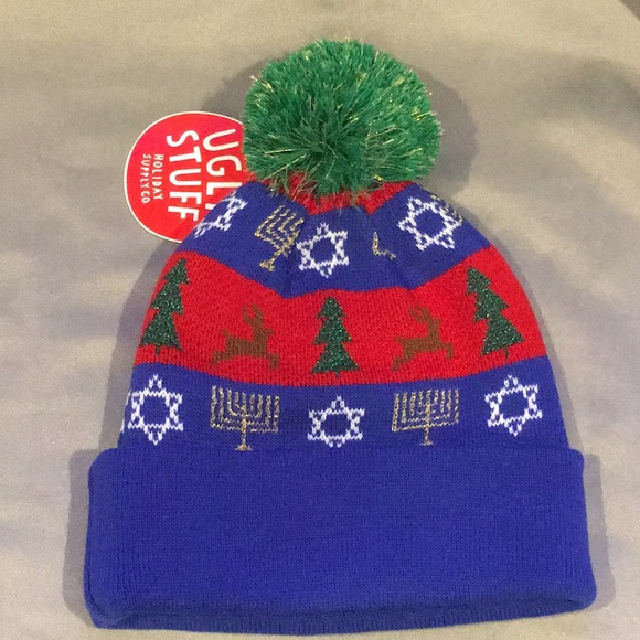 54f499b6908 NWT Ugly Stuff Christmas and Hanukkah Hat Beanie