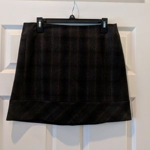 Kenar wool/poly blend plaid mini skirt size 8