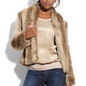 Trouve faux fur jacket