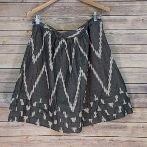 The Limited Gray White Pattern Skirt Pockets Large
