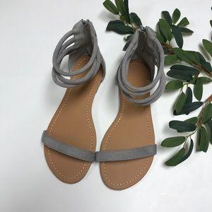 BNWOT • Gray sandals
