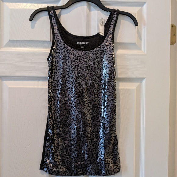 237c3582d2a49 NWT Old Navy sequin tank top size Small