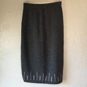 vintage 80's sweater skirt - pencil skirt