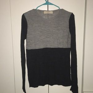 Grey Color Block Sweater - Zara