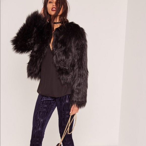 c39fe033418e5 Missguided Jackets & Coats | Brand New Never Worn Faux Fur Black ...