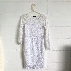 White Lace Midi Dress | Ambiance