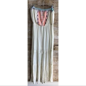 Flying Tomato • Cream Neon Aztec Embroidered Maxi