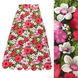 Vintage 60s maxi skirt watercolor floral print🌸