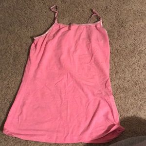 Hot pink cami tank top