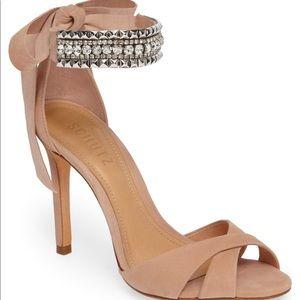 """Schutz Larazee Embellished Sandal nwot 4"""" heel"""