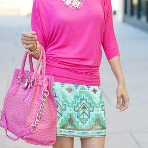 Dresses & Skirts - Boutique Item: Mint Sequin Mini Skirt