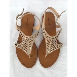 Bamboo Sandals w/ Adjustable Strap, Size 8.5
